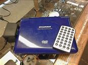 """Blue SYLVANIA Portable 7"""" DVD Player SDVD7015 with Remote and Cord"""